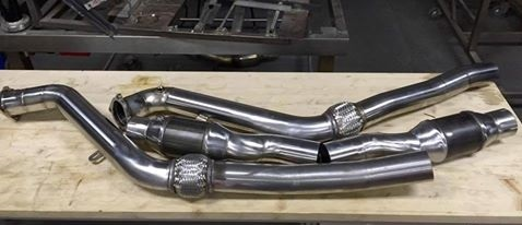 "Downpipes Audi RS6 4F 76,1mm 3"" 100 oder 200 cpsi"