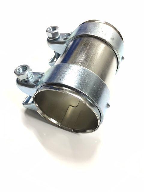 63,5mm Edelstahl Rohrverbinder//Doppelschelle f/ür V2A Auspuffanlagen Arlows 2,5